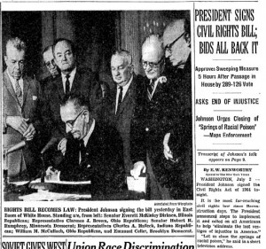 New York Times 1974 Johnson Signs Civil Rights Act